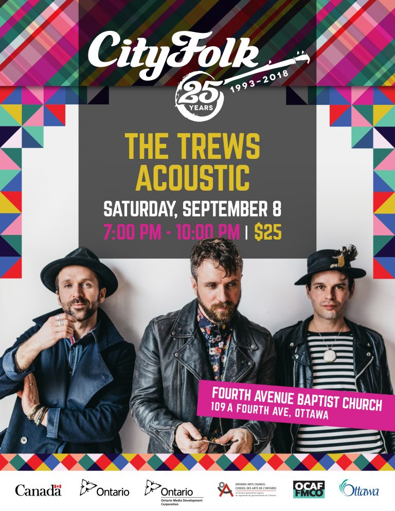 The Trews Acoustic. Saturday, September 8. 7:00 PM - 10:00 PM. Tickets $25.